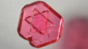 "100% natural spinel macle crystal with ""Solomon's Seal"" (sometimes known as Star of David)."